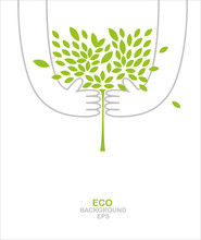 Green Tree In Your Hands. Envi...