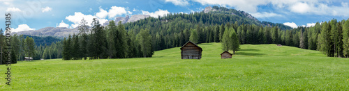 Landscape view of Unesco World Heritage site Dolomiti, Alta Badia, Italy