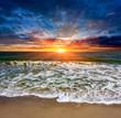 sunset scene over sea