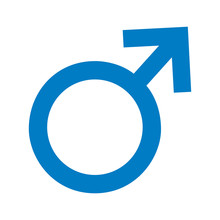 Male Symbol Isolated Icon Vect...