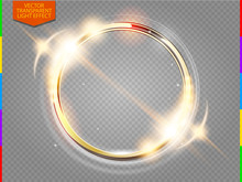 Abstract Luxury Golden Ring. V...