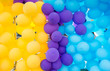 background of colored balloons
