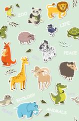 seamless wallpaper for children. vector illustration of funny an