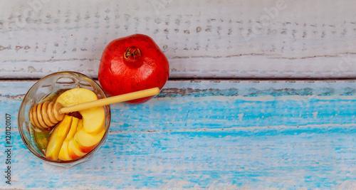 Tablou Canvas Jewish New Year - Rosh Hashanah - Apple and Honey.