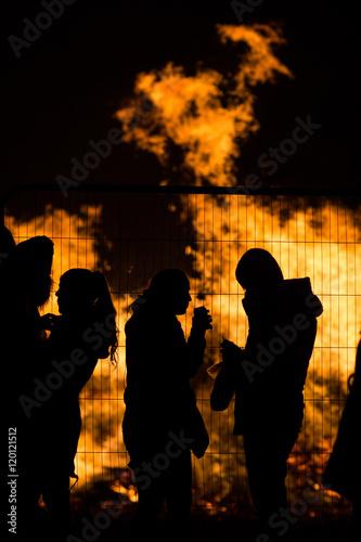 Fotografie, Obraz  Bonfire Revellers