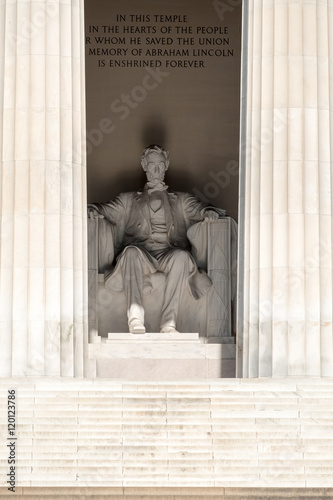Detail of the Lincoln Memorial at  Washington D.C. Poster
