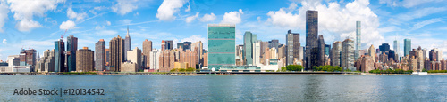 Panoramic image of midtown New York City