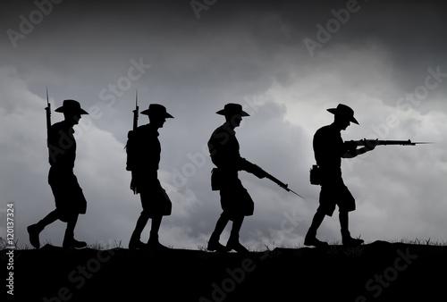 Fotografía  ANZAC illustration