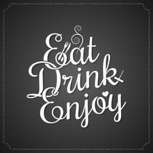 Food And Drink Vintage Chalk L...