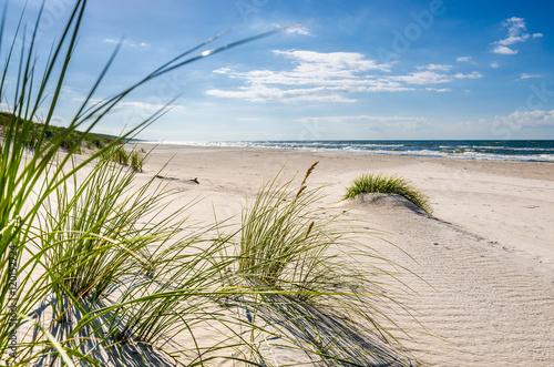 Deurstickers Strand Mrzeżyno, plaża