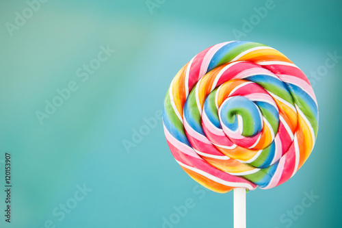 Nice round lollipop with many colors Tableau sur Toile