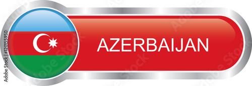 Fotografía  Azerbaijan flag glossy banner