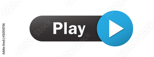 """PLAY"" Vector Web Button Fototapeta"