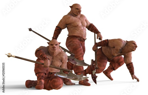 Fotografía 3D Illustration Of A Mutants Monsters Isolated on White
