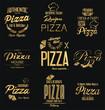 Typographic Pizza retro vintage design collection