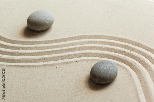 Foto op Plexiglas Stenen in het Zand Zen stone garden