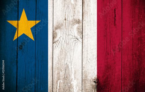 Photo Wooden Flag of Acadia