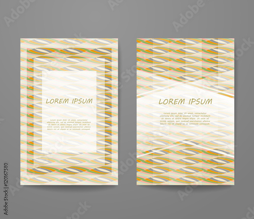 Fototapeta Business Card With Sample Text Flyer Identity Template Set Invitation Design Collection Abstract Pattern For Booklet Layout