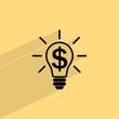 the idea of the dollar icon