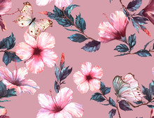 Hand-drawn Watercolor Floral S...