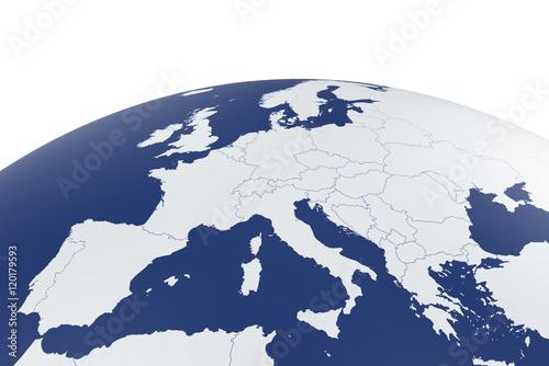 Mapa Europy Kula ziemska