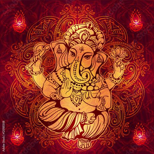 Hindu Lord Ganesha Canvas Print