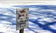 Danger Keep Off Ice