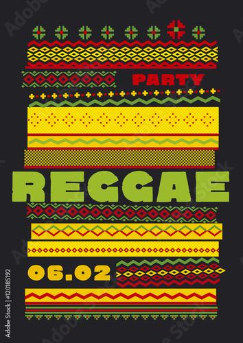 Fotografia retro traditional decorative pattern. reggae color music backgro