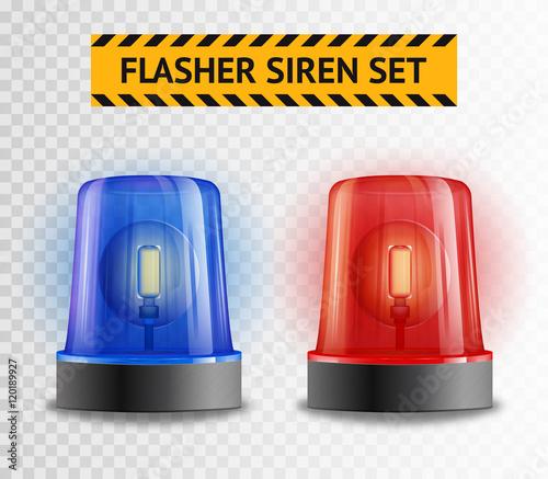 Fotografia Flasher Siren Transparent Set