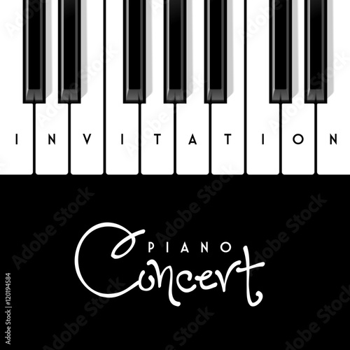 piano concert invitation design template buy this stock vector and