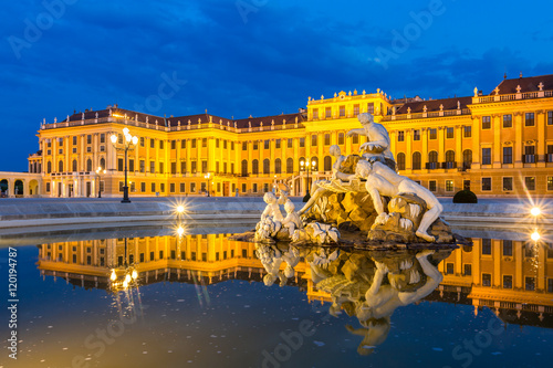 Photo sur Toile Vienne Schonbrunn Palace Vienna
