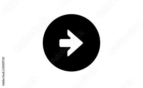 Vector Right Arrow Symbol In Black Circle On White Background Buy