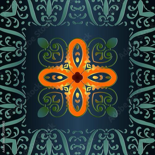 Geometric Ornament Pattern For Your Design Art Deco