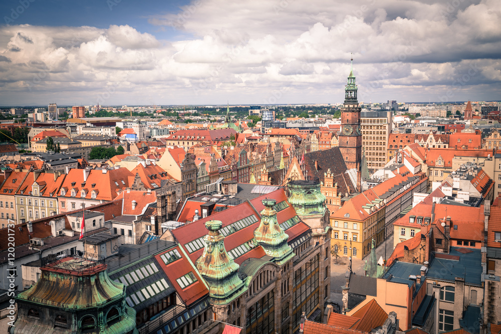 Fotografia Wroclaw Panorama Miasta Kup Na Posterspl