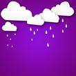 Leinwandbild Motiv Weather cartoon