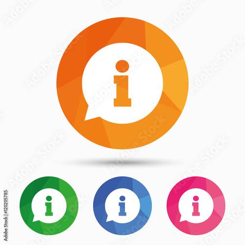 Fotografía  Information sign icon. Info symbol.