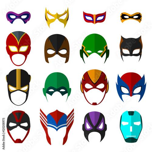 Fototapeta Super hero masks set