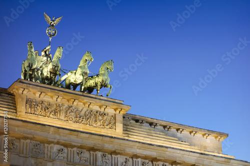 Berlin Brandenburg Gate Quadriga Poster