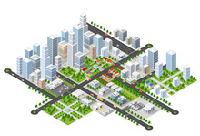 Megapolis 3d Isometric Three-d...