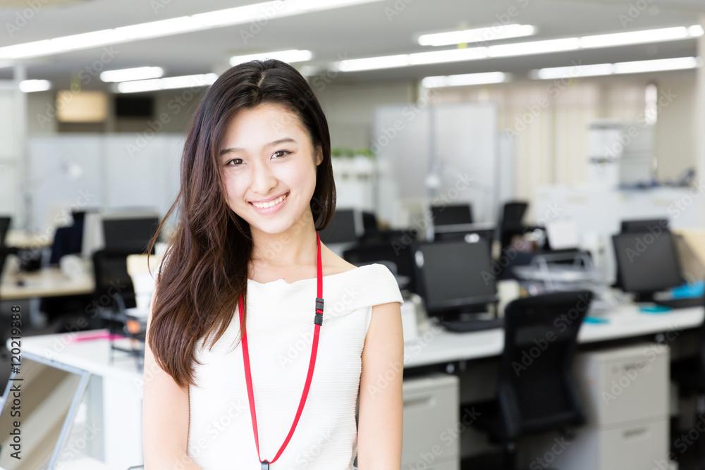 Fototapeta portrait of asian businesswoman in the office