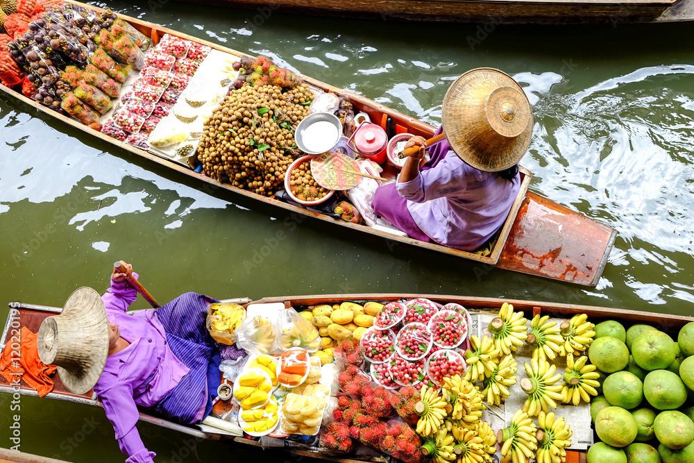 Fototapeta Damnoen Saduak floating market