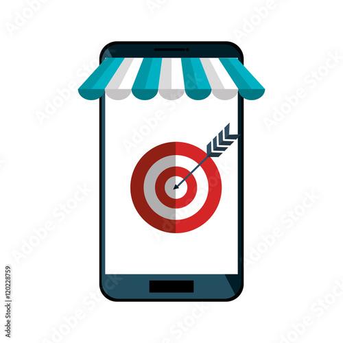 56189e7de63 e-commerce smartphone shop online design vector illustration eps 10 ...