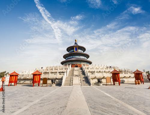 Keuken foto achterwand Peking The beauty of the ancient temple,Temple of Heaven in Beijing,China