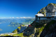 Cable car approach to the top of Pilatus mountain from Luzern, S