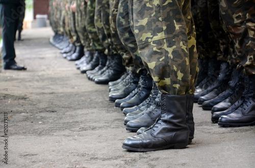 Slika na platnu soldiers boots in army