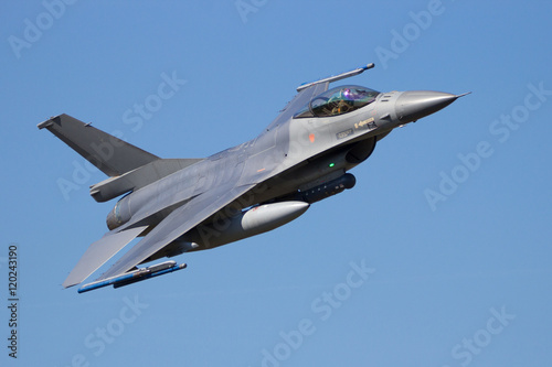 plakat Fighter jet flyby