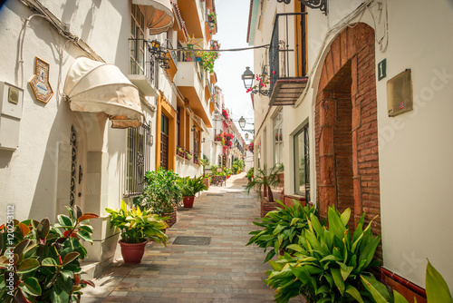 Streets of Marbella. Canvas
