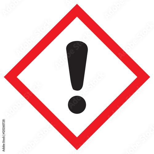 Fotografie, Obraz  Piktogram GHS07  zagrożenie dla warstwy ozonowej
