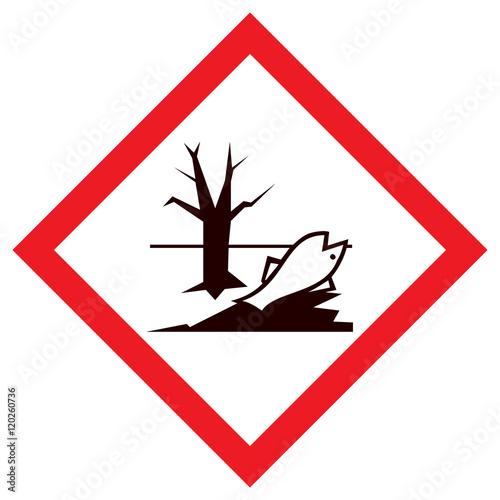 Fotografie, Obraz  Piktogram GHS09  zagrożenie dla środowiska wodnego