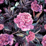 Hand drawn pink peonies bouquet seamless pattern - 120266572